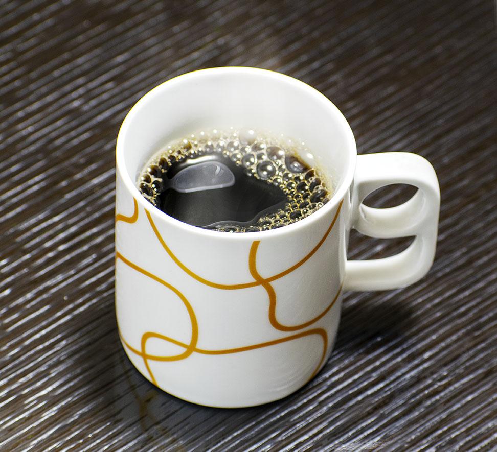 コーヒー出来上がり